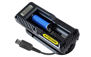 Lasertac Rechargeable 11340 and Nitecore UM10 Charger Kit for Lasertac Subcompact Laser Sight, Light and Laser Light Combo