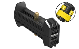Nitecore F2 Flex 2-Port Outdoor Charger for 18650, 16340(RCR123), &14500 Batteries