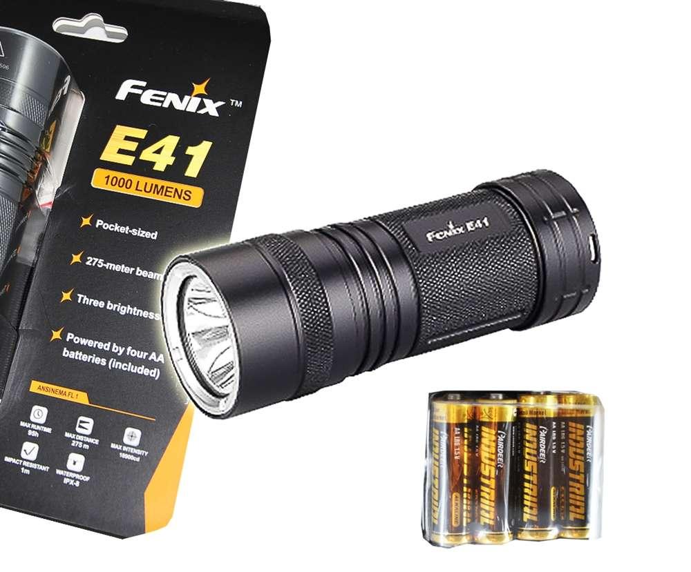 fenix e41 1000 lumen 300 yards led flashlight compact. Black Bedroom Furniture Sets. Home Design Ideas