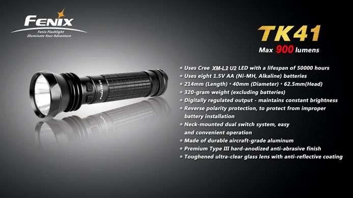 Fenix TK41 XM-L2 U2 Tactical Light