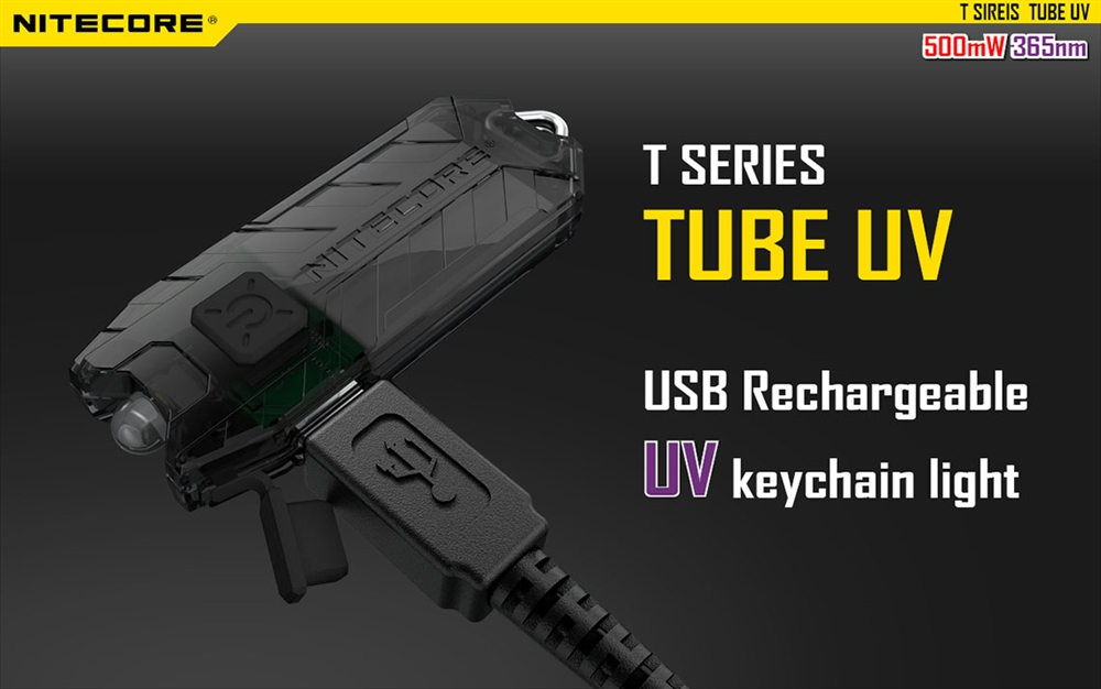 Nitecore T Series Tube Uv Usb Rechargeable Ultraviolet
