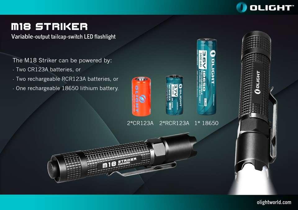 Olight M18 Striker Cree Xm L2 Led Flashlight 800 Lumens