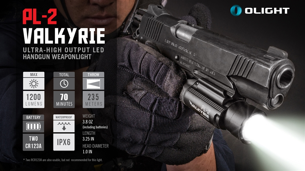Olight Pl 2 Valkyrie 1200 Lumen Led Weapon Light