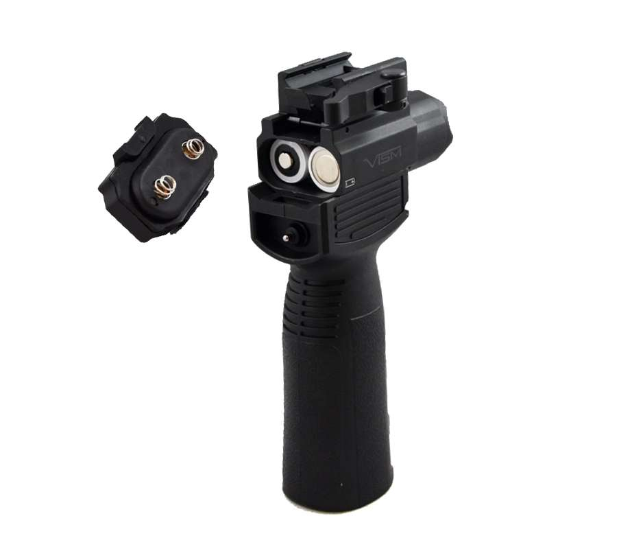 Vism Vertical Foregrip W Tactical Flashlight Green Laser