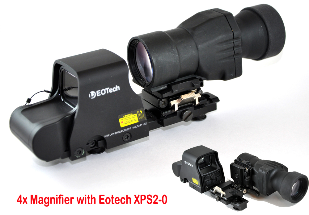 Ontarget Holographic Sight 4x Magnifier With Flip To Side