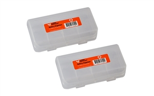 Pair of Lumen Tactical Clear Color 4x CR123A or 2x Button top 18650 Battery Organizer / Storage Case / Holder
