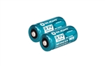 Olight 16340 RCR123A 3.7V Rechargeable Li-ion Battery (Pair) for S10, M10 etc- 650mAh