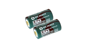 Olight 163C06 650mAh 3.7V RCR123A / 16340 USB Rechargeable Li-ion Battery w/ Charging Cable