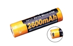 FENIX ARB-L18-2600U Protected Button-Top Rechargeable 2600mAh 18650 Battery