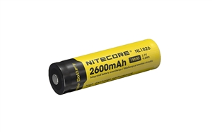 Nitecore 18650 Rechargeable Battery NL1826 2600 mAh