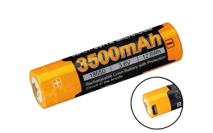 FENIX ARB-L18-3500U Protected Button-Top 3500mAh USB-Rechargeable 18650 Battery