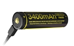 NITECORE NL1834R Protected Button-Top 3400mAh USB-Rechargeable 18650 Battery