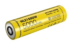 NITECORE NL2150DW 21700 5000mAh USB-C Rechargeable Li-ion Battery