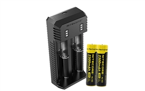 18650 Recharger Kit: Nitecore OEM with 2x Batteries