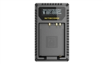 NITECORE FX1 Digital USB Travel Battery Charger for Fujifilm NP-W126 and NP-W126S Batteries