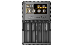 Nitecore SC4 Superb Charger 4-Slot Universal Charger for 18650, 17650, 17670, RCR123A16340, 14500, AA, AAA, C, D Batteries