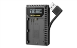 NITECORE UCN3 Digital USB Charger for Canon LP-E6N Camera Batteries