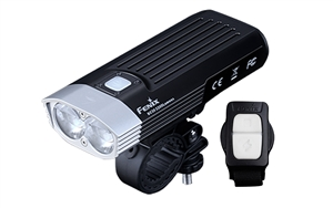 Fenix BC30 v2 2200 Lumen Dual Beam Bicycle Light, with Quick Mount, Wireless Remote
