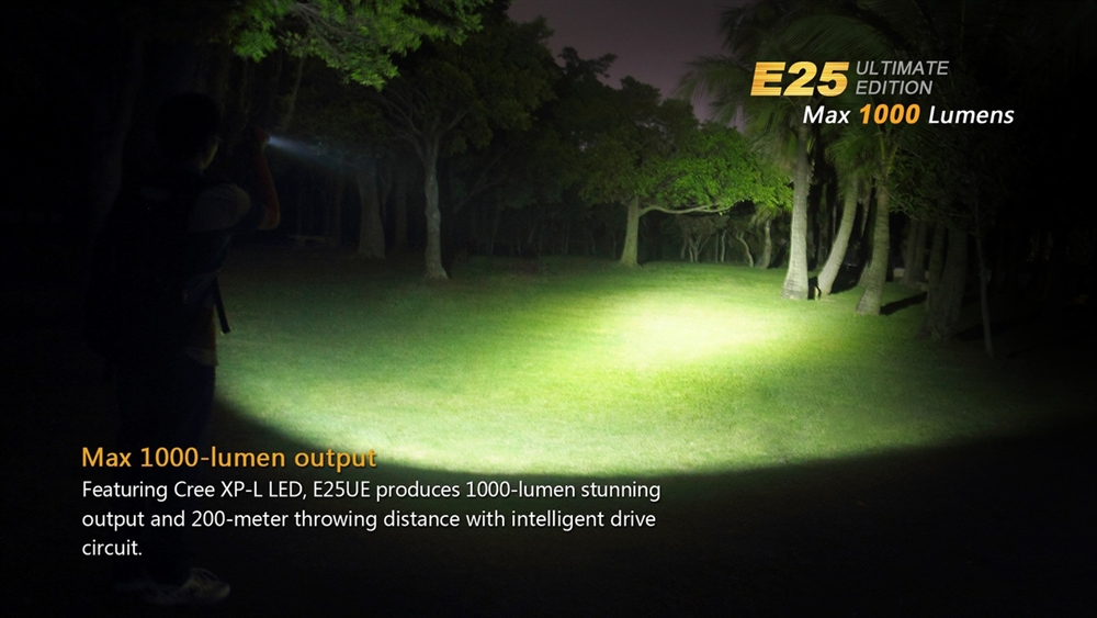 Fenix E25ue Led Flashlight 1000 Lumen