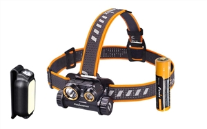 Fenix HM65R 1400 Lumen USB-C Rechargeable Magnesium Alloy Dual Beam Headlamp Kit