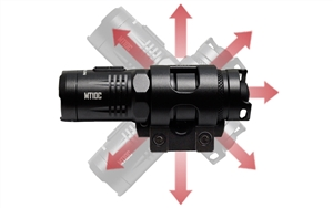 Nitecore MT10C 920 Lumen Rotary Helmet Mounting Rechargeable Flashlight Kit with Red Light