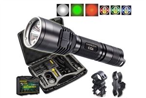 Nitecore CG6 Rechargeable Hog Hunting Light w/ Green White Red Beams & Mounting Kit-440 Lumen