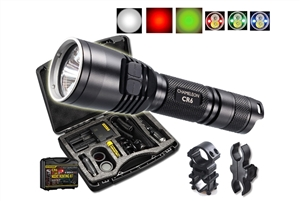 Nitecore CR6 Rechargeable Hunting Flashlight w/ Red White Green Beams & Mounting Kit- 440 Lumen
