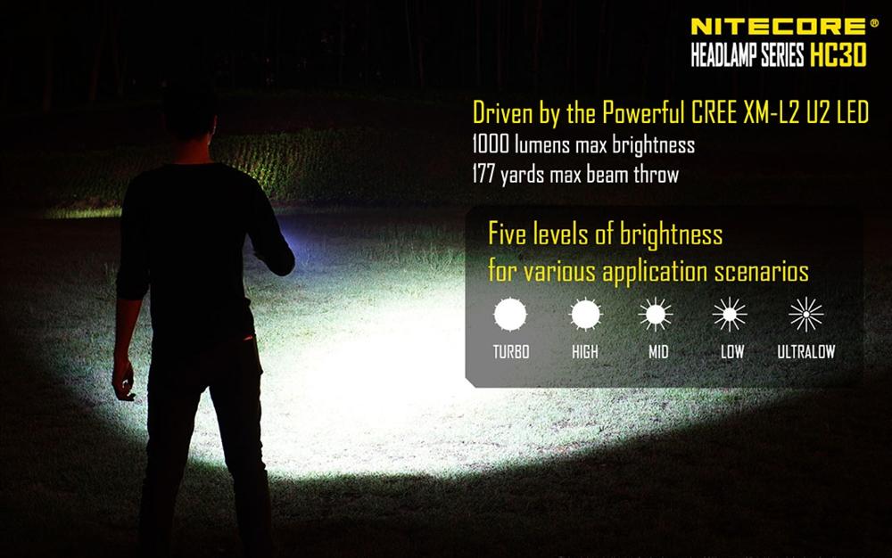 Nitecore Hc30 Super Bright Compact Led Headlamp 1000 Lumen