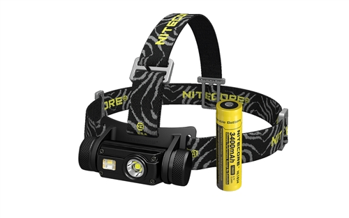 NITECORE HC65 1000 Lumen White/Red/CRI USB Rechargeable Headlamp