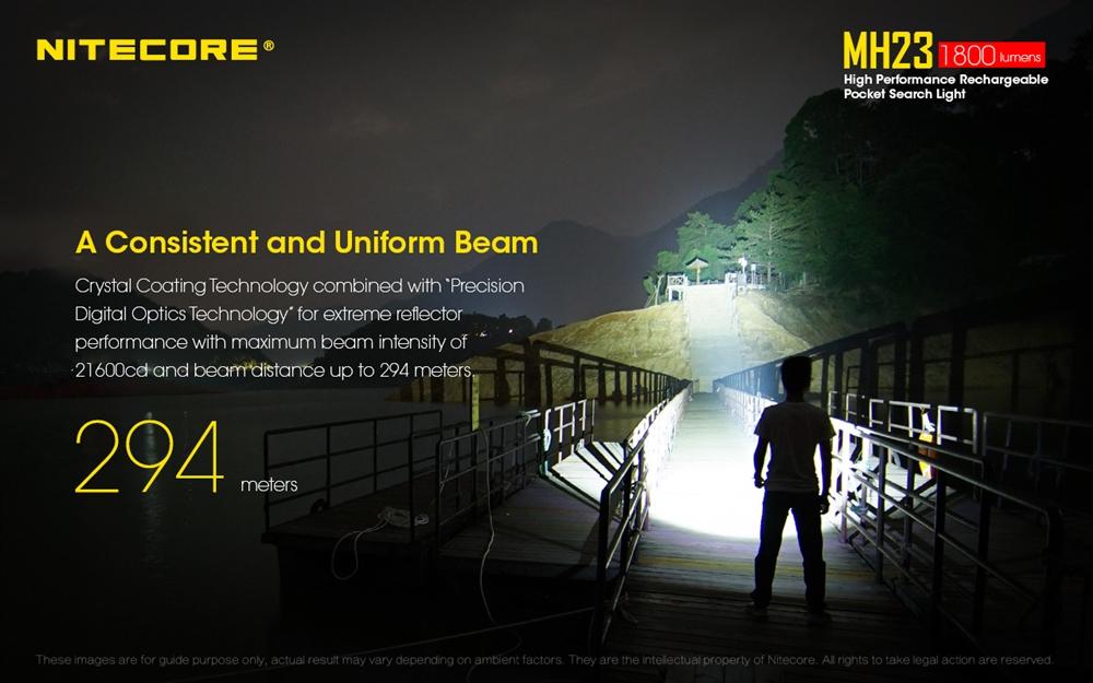 NITECORE MH23 1800 Lumen USB Rechargeable Compact Flashlight