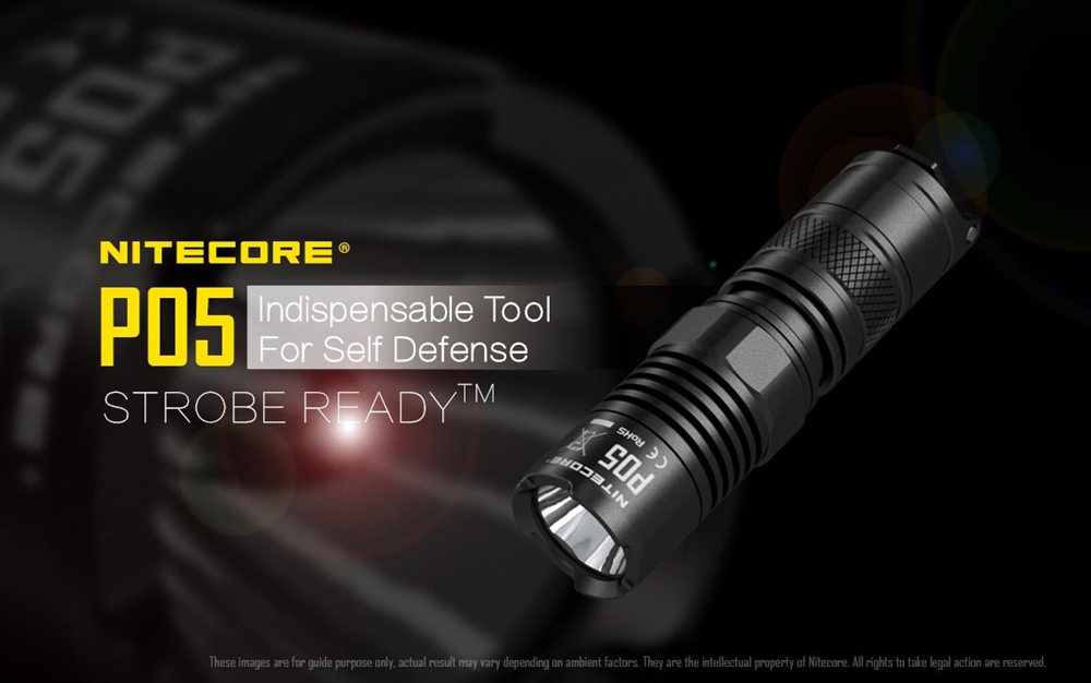 Nitecore P05 Strobe Ready LED Tactical Flashlight - 460 Lumen