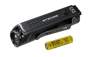 NITECORE P18 1800 Lumen Compact Flashlight with Auxiliary Red LED and Silent Tactical Switch
