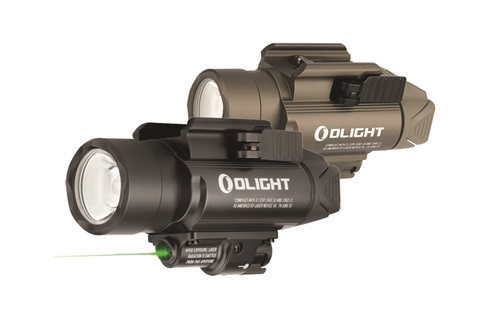 Olight Baldr Pro 1350 Lumen Pistol Flashlight with Green Laser Sight