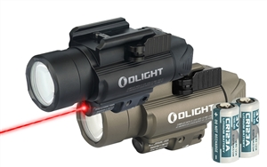 Olight Baldr Pro 1120 Lumen Pistol Flashlight with Red Laser Sight