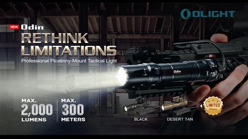 Olight Odin Desert Tan Lampe De Poche 2000 LM interrupteur arrière Rechargeable