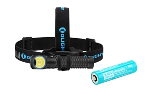Olight Perun 2000 Lumen Right-Angle Rechargeable Headlamp