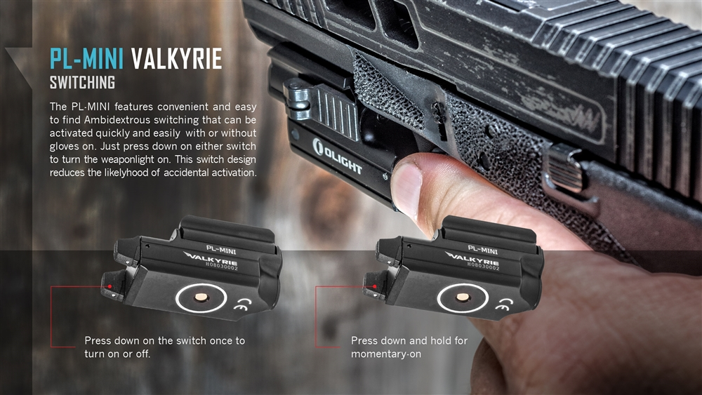 Olight PL-MINI Valkyrie 400 Lumens Magnetic USB Rechargeable Compact LED  Pistol Light
