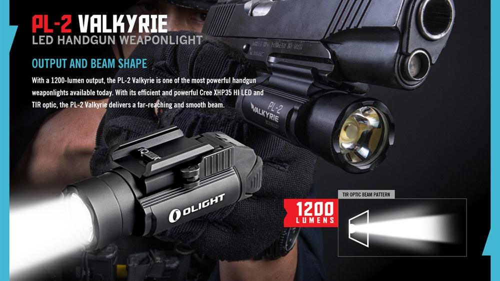 Olight Pl 2 Valkyrie 1200 Lumen Led Weapon Light