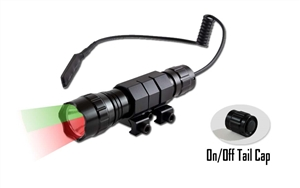 Orion H20 100 Yard Green or Red LED Hog Hunting Light w/ Pressure Switch Mounting Kit