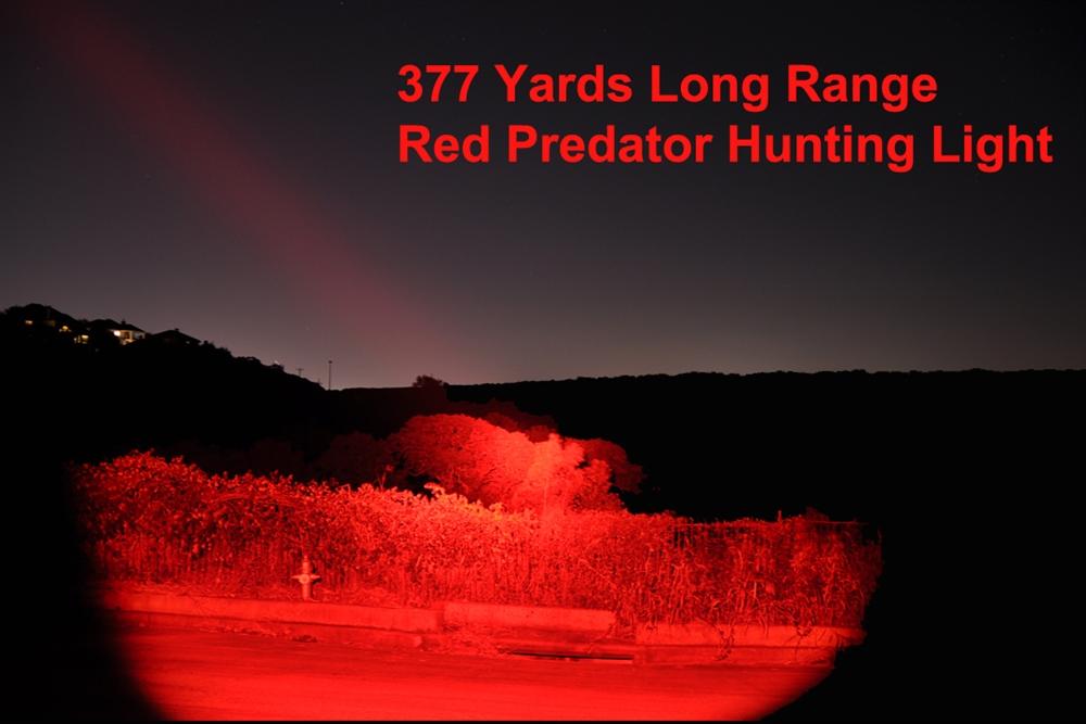 400 Yard Red//Green Light Predator Lights Long Range Night Camping Hunting Lights