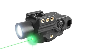 Hawk Gazer FLG-9T Low Profile Rechargeable Flashlight Green Laser Sight Combo