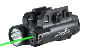 LaserTac CL7-G Compact Green Laser Sight Tactical Light Combo for Rifles & Pistols