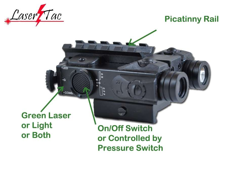 Lasertac Compact Rifle Green Laser Sight With Bright