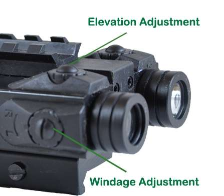 LaserTac Compact Rifle Green Laser Sight with Bright Strobe ...