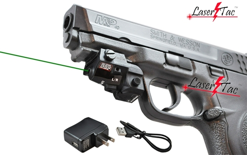 Lasertac GLX-SR Rechargeable Subcompact Green Laser Sight